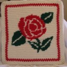 WALL PICTURE HANDMADE CROCHET CROCHETED ROSE