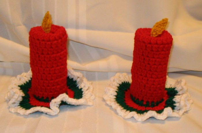 SET OF 2 CHRISTMAS CANDLES