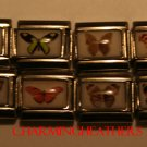 LOT OF 8 ASSORTED BUTTERFLY ITALIAN CHARMS