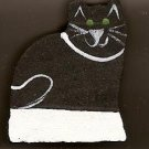 Count Your Blessings Family Heart Sign Person - Black Cat