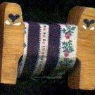 Quilt Rack with Blue Heart - Wooden Miniature