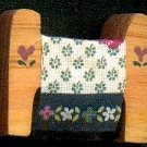 Quilt Rack with Green Fabric  - Wooden Miniature