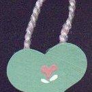 Hanging Heart Green / Pink - Wooden Miniature