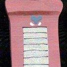 Washboard Pink - Wooden Miniature