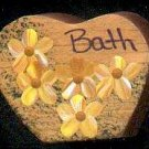 Bath Heart - Yellow - Wooden Miniature