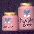 Bath Bubbles Pink / Blue - Wooden Miniature