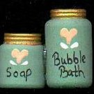 Bath Bubbles Green / Peach - Wooden Miniature