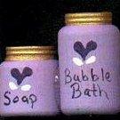 Bath Bubbles Purple - Wooden Miniature