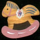 Rocking Horse - Pink - Wooden Miniature