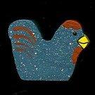 Chicken - Blue - Wooden Miniature
