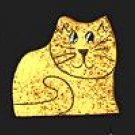 Cat - Yellow - Wooden Miniature