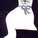 Shelf Cat - Light Blue - Wooden Miniature