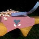 Wheel Barrow - Pink / Blue - Wooden Miniature