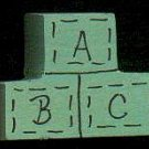 ABC Green Blocks - Wooden Miniature
