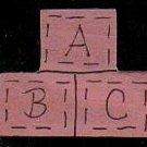 ABC Pink Blocks - Wooden Miniature