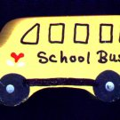School Bus - Wooden Miniature