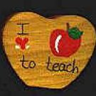 I Love To Teach - School Wooden Miniature