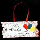 Happy Birthday Sign - Wooden Miniature