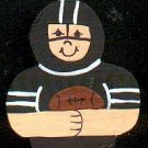 Black Football Player - Sports Wooden Miniature