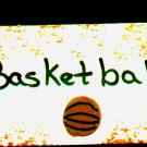 Basketball Sign - Sports Wooden Miniature