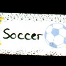 Soccer Sign - Sports Wooden Miniature