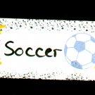 Soccer Sign - Sports Wooden Miniature