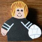 Volleyball Player - Blonde Hair - Black Jersey - Sports Wooden Miniature