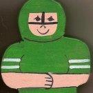 Hockey Player - Green - Sports Wooden Miniature