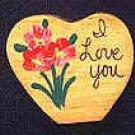 I Love You - Valentine Wooden Miniature