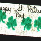 Happy St Patricks Day Sign - Irish Wooden Miniature