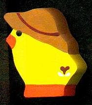 Hat Duck - Red - Easter Wooden Miniature
