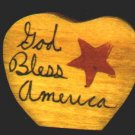 God Bless America - 4th of July / Patriotic / Liberty Wooden Miniature
