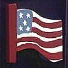 American Flag - 4th of July / Patriotic / Liberty Wooden Miniature
