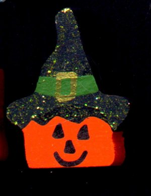 Pumpkin Hat - Halloween Wooden Miniature