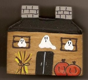 Haunted House - Halloween Wooden Miniature