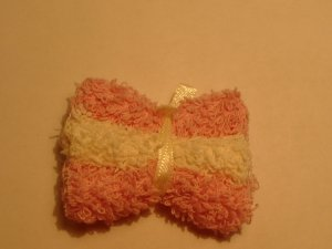 Bath Towles  Pink /  Cream- Wooden Miniature