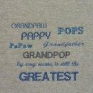 Grandpaw, Pappy, Pops, Papaw, Grandfather, Grandpop  - Large Embroidered Sweatshirt
