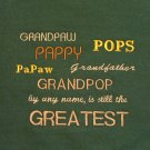 Grandpaw, Pappy, Pops, Papaw, Grandfather, Grandpop  - Large Embroidered Sweatshirt
