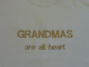 Grandmas are All Heart -X XX-Large Embroidered Sweatshirt