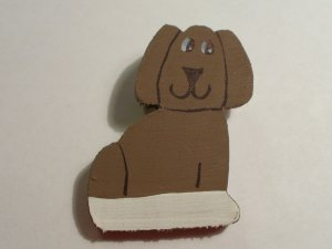 Brown Dog  Pin for Embroidered Sweatshirt