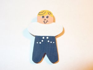 Blonde  Hair Boy Pin for Embroidered Sweatshirt