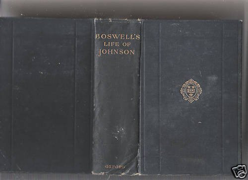 Boswell's Life Of Johnson-Vol.#1-1927-Oxford Un.Press