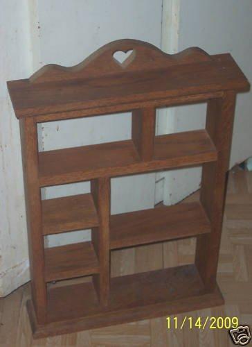 "Heavy Oak 7 Compartment Curio Shelf 14 1/2"" X 23 3/4"""