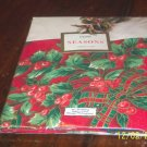 "Bradwill Seasons Holly Berry Ribbons 60""X84"" Tablecloth"