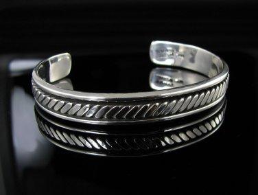 """8"""" .925 Sterling Silver Celtic Knot Cuff Bracelet - NEW"""