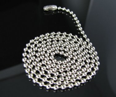 """22"""" Stainless Steel 3.0mm Bead Chain Necklace - NEW!"""