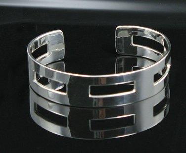 "NEW 7"" .925 Sterling Silver Modern Design Cuff Bracelet"
