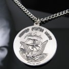 .925 Silver U.S. Navy Saint Christopher Pendant w/Chain
