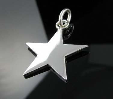 Genuine Solid .925 Sterling Silver SUPER STAR Pendant !