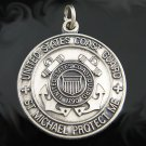 .925 Sterling Silver US Coast Guard St. Michael Pendant